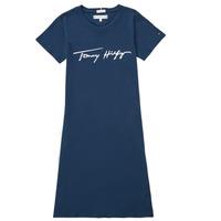 Clothing Girl Short Dresses Tommy Hilfiger POLINE Marine