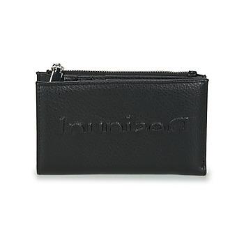 Bags Women Wallets Desigual EMBOSSED HALF EMMA Black