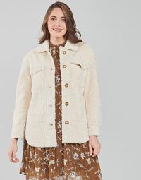 Clothing Women Coats Esprit LL F SHRLG SHKT Beige
