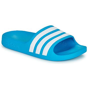 Shoes Children Sliders adidas Performance ADILETTE AQUA K Blue / White