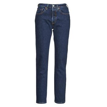 Clothing Women Boyfriend jeans Levi's 501 CROP Blue