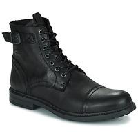 Shoes Men Mid boots Jack & Jones JFW SHELBY LEATHER Black
