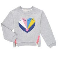 Clothing Girl Sweaters Billieblush MARIELA Grey