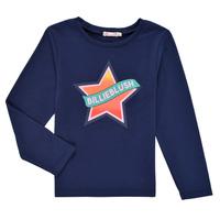 Clothing Girl Long sleeved tee-shirts Billieblush DEKOU Marine