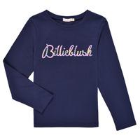 Clothing Girl Long sleeved tee-shirts Billieblush PETRA Marine