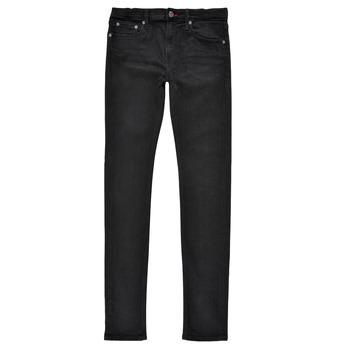 Clothing Boy Skinny jeans Teddy Smith FLASH SKINNY Black