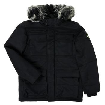 Clothing Boy Parkas Teddy Smith P-SIL Black