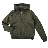 Clothing Boy Jackets Teddy Smith B-POMBERS HOODY Kaki