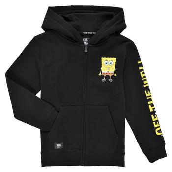 Clothing Boy Sweaters Vans BY VANS X SPONGEBOB HAPPY FACE KIDS FZ Black