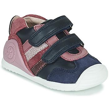 Shoes Girl Low top trainers Biomecanics BIOGATEO SPORT Marine / Pink
