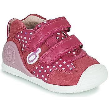 Shoes Girl Low top trainers Biomecanics BIOGATEO SPORT Pink