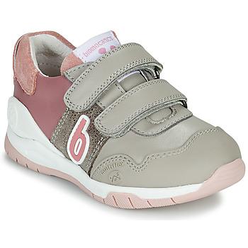Shoes Girl Low top trainers Biomecanics BIOEVOLUTION SPORT Grey / Pink