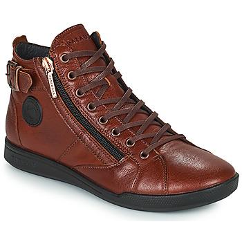 Shoes Women Hi top trainers Pataugas PALME Chestnut