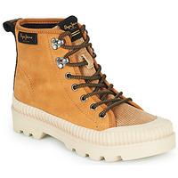 Shoes Women Hi top trainers Pepe jeans ASCOT DESERT Camel