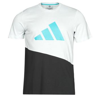 Clothing Men Short-sleeved t-shirts adidas Performance FUTURE BLK TEE White / Crystal