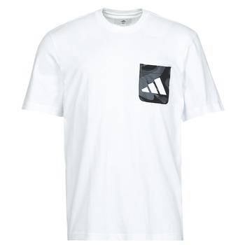 Clothing Men Short-sleeved t-shirts adidas Performance CAMO PKT TEE White