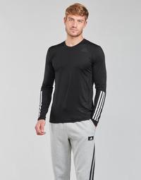 Clothing Men Long sleeved tee-shirts adidas Performance TF LS FT 3S Black