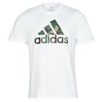 Clothing Men Short-sleeved t-shirts adidas Performance M CAMO T White