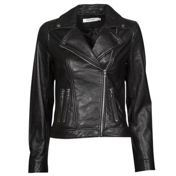 Clothing Women Leather jackets / Imitation leather Naf Naf CAMARADE Black