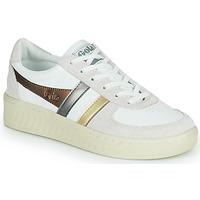 Shoes Women Low top trainers Gola GRANDSLAM TRIDENT METALLIC Beige / Gold