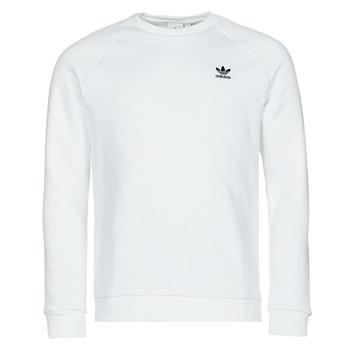 Clothing Men Sweaters adidas Originals ESSENTIAL CREW White