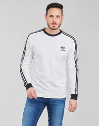 Clothing Men Long sleeved tee-shirts adidas Originals 3-STRIPES LS T White