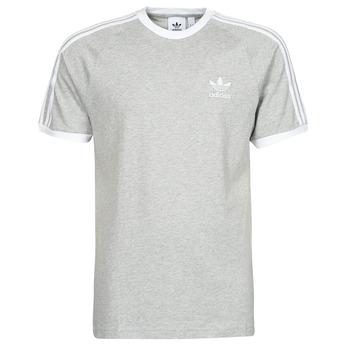 Clothing Men Short-sleeved t-shirts adidas Originals 3-STRIPES TEE Grey / Medium