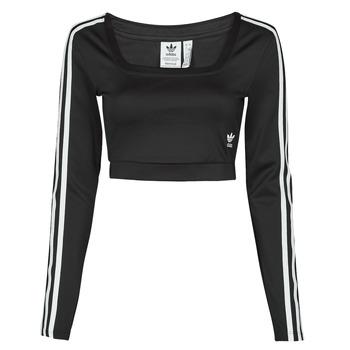 Clothing Women Long sleeved tee-shirts adidas Originals LONG SLEEVE Black