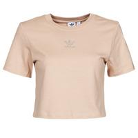 Clothing Women Short-sleeved t-shirts adidas Originals CROPPED  TEE Beige