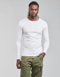 Clothing Men Long sleeved tee-shirts G-Star Raw BASE R T LS 1-PACK White