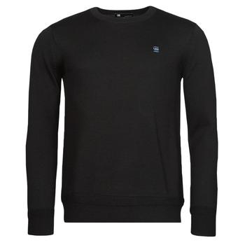 Clothing Men Jumpers G-Star Raw PREMIUM BASIC KNIT R LS Black