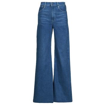 Clothing Women Bootcut jeans G-Star Raw DECK ULTRA HIGH WIDE LEG Blue
