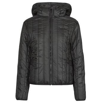 Clothing Women Duffel coats G-Star Raw MEEFIC VERTICAL QUILTED JACKET Black