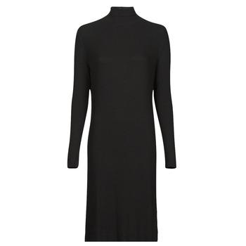 Clothing Women Long Dresses G-Star Raw RIB MOCK SLIM DRESS Black