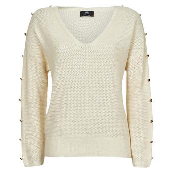 Clothing Women Jumpers Le Temps des Cerises SIBEL White
