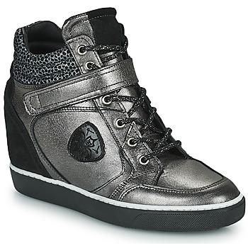 Shoes Women Hi top trainers Philippe Morvan NOEK Black / Silver