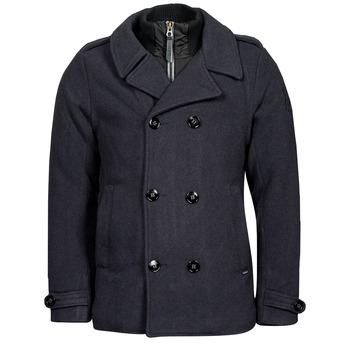 Clothing Men Coats Petrol Industries JACKET WOOL Blue
