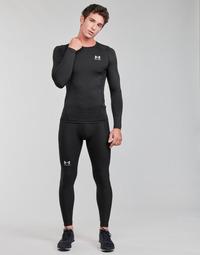 Clothing Men Leggings Under Armour UA HG ARMOUR LEGGINGS Black / White