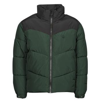 Clothing Men Duffel coats Volcom GOLDSMOOTH JACKET Green / Black
