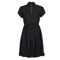 Clothing Women Short Dresses Volcom DOTSABILLY DRESS Black