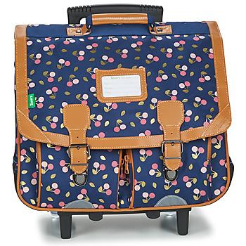 Bags Girl Rucksacks / Trolley bags Tann's ALEXA TROLLEY CARTABLE 41 CM Marine