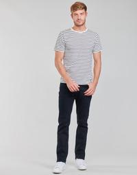 Clothing Men Straight jeans Lee BROOKLYN STRAIGHT Blue / Black
