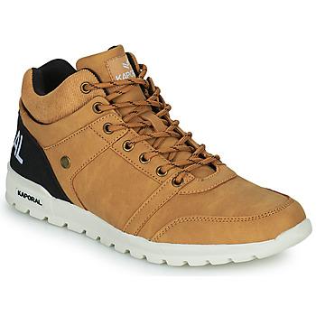 Shoes Men Hi top trainers Kaporal DAWSON Camel / Black