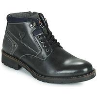 Shoes Men Mid boots Kaporal GAETAN Black
