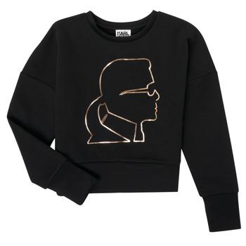 Clothing Girl Sweaters Karl Lagerfeld CORNALINE Black