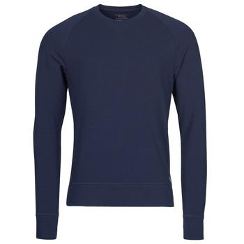 Clothing Men Long sleeved tee-shirts Polo Ralph Lauren LS CREW SLEEP TOP Marine