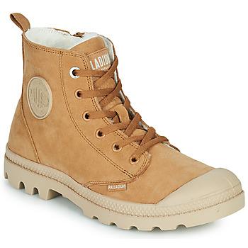 Shoes Women Mid boots Palladium PAMPA HI ZIP WL W Brown