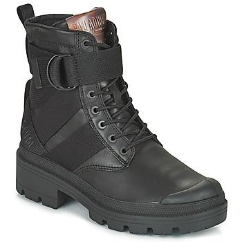 Shoes Women Mid boots Palladium PALLABASE TACT STR L Black