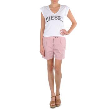 Clothing Women Shorts / Bermudas Diesel HANTU Pink