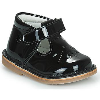 Shoes Girl Flat shoes Citrouille et Compagnie OTAL Black / Varnish